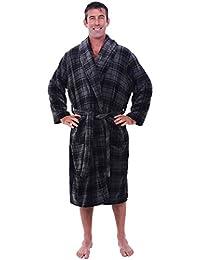 Mens Fleece Robe, Shawl Collar Bathrobe