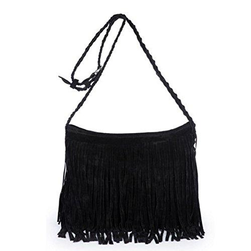 D'autres hauteurs Hippie Suede Fringe Tassel Messenger Bag Women Hobo Shoulder Bags Handbag 6 Colors
