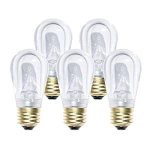 Holiday Lighting Outlet LED Smooth S14 Sun Warm White Replacement Light Bulbs for E26/Standard Base Sockets, Energy Efficient Commercial Grade, 5 Diode 0.80 Watt (LED) Bulb. Pack of 500 Bulb