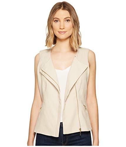 フルーツ野菜鳴らす最悪[キスキス XOXO] レディース アウター コート Linen Zip Front Vest [並行輸入品]