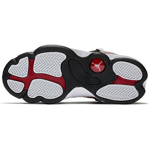 NIKE PS Boys Jordan 6 Rings Basketball Shoes White/Black-gym Red ytFu4AA72g