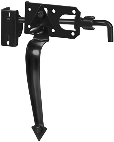 National Hardware N178-616 V27 Ornamental Gate Latch in Black, up to 3