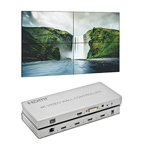 Expert Connect 2x2 Video Wall Controller | 1080p, HDMI 1.4, HDCP1.4 Compliant | HDMI & DVI Inputs; HDMI Outputs | 3 Display Modes - 2x2, 1x2,1x4 | Cascading - 2x4, ()