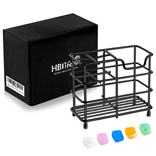 HBlife Toothbrush Holder, Small Stainless Steel Toothpaste Holder Bathroom Accessories Organizer, Black 7
