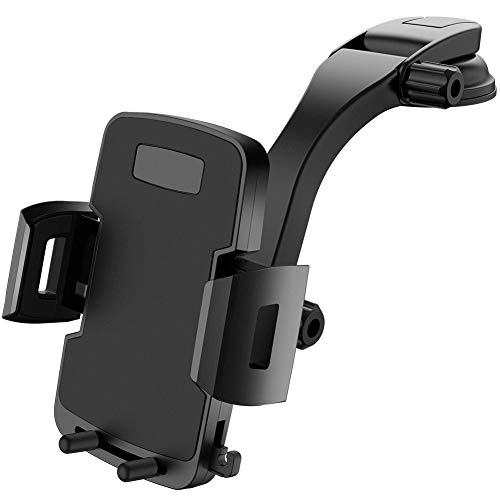 Car Phone Mount, Miracase Dashboard Phone Holder for Car Windshield Adjustable Universal Stand Heavy Duty Hands Free Support for Vehicles Trucks Long Arm Cradle for All - Mount Support