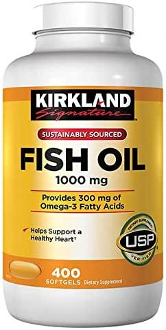 Kirkland Signature Fish Oil 1000 mg 400 Softgels
