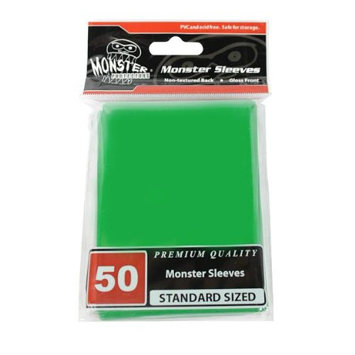 (Monster Protectors Sleeves Sleeves - Standard Size Gloss - Green (Fits MTG Magic the Gathering and Other Standard Sized Gaming Cards))