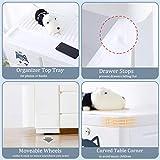 Nafenai Plastic Dresser 6 Drawers,Storage Cabinet