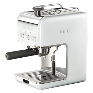 Kenwood ES 020 kMix Espressomaschine Siebträger (100 Watt, 15 bar, 1 Liter) weiß