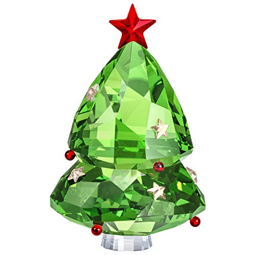 Swarovski Authentic Merry and Festive Joyful Figurines Green Christmas Tree (Crystal Christmas Figurines)