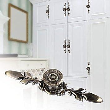 Juego de 4 pomos de puerta de estilo vintage para muebles cajones con tornillos armarios