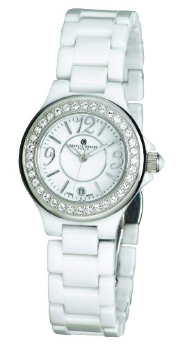 Charles-Hubert, Paris Women's 6777-W Premium Collection White Ceramic Watch