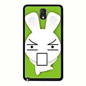 Galaxy Note 3 N9005 Case Hipster Solid Bunny Phone Case Protective Shell Cover for Samsung Galaxy Note 3 N9005 Bunny Charming