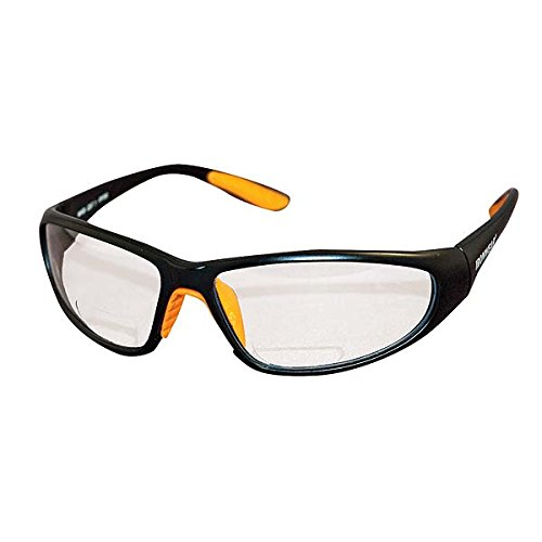 (Ironwear Bradford 3030 Series Nylon Protective Safety Glasses with 2.0 Bifocal Lens, Clear Lens, Black Frame (3030-C-2.0))