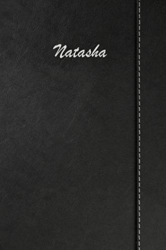Natasha Leather - Natasha: Weekly Meal Planner Simulated Black Leather Track And Plan Your Meals 52 Week Food Planner / Diary / Log / Journal / Calendar Meal Prep And Planning Grocery List