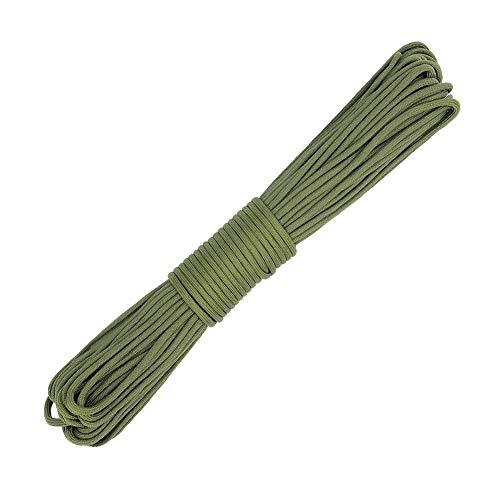 分注するブラウズペインティング4MM直径屋外サバイバルロープ31M(100 Ft)440 Lb、9芯軍事規制登山テント装置を救助するために逃げるための傘ロープ (色 : Army green, サイズ : Diameter 4 mm/31M)