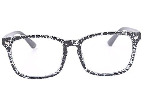 dd31b0da2a30 Agstum Wayfarer Plain Glasses Frame Eyeglasses Clear Lens (Ink black ...