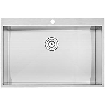 Phoenix 18 Gauge 304 Grade Stainless Steel Single Bowl Overmount Kitchen Sink