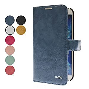 TOPAA ships in 48 hours Korean-Style PU Leather Full Body Case for Samsung Galaxy S4 I9500 (Assorted Colors) , Red