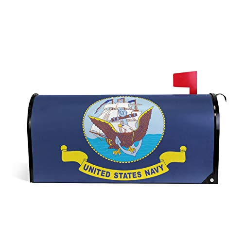 (ZZKKO Mailbox Decor United State Navy Ocean US Army and American Eagle Mailbox Covers Magnetic Seasonal Colorful Pattern Home Houses Letter Box Cover Decorations,20.8x18 Inch Standard Size,Multicolor)