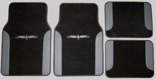white and black car floor mats - 3