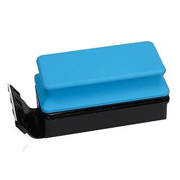 D@Qyn Raspador De Algas del Acuario Fuerte Succión Cepillo Magnético Cepillo De Pescado Algas Herramienta De Limpieza De Vidrio Cepillo De Limpieza,Blue,L: ...