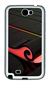 3D Colorful Waves Personalized Samsung Galaxy Note 2/ Note II/ N7100 Case and Cover - TPU - BlackKimberly Kurzendoerfer