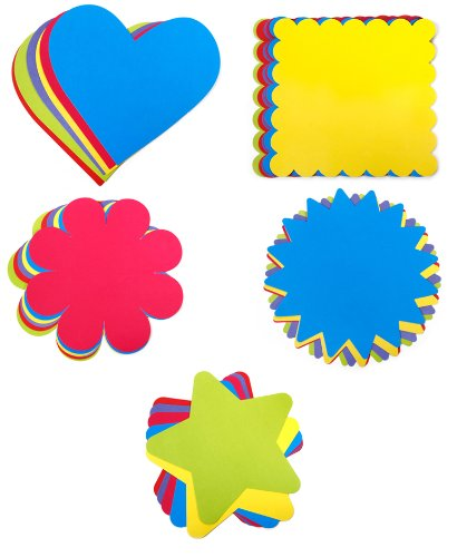 amazon com set of 30 cardstock paper shapes by darice stars