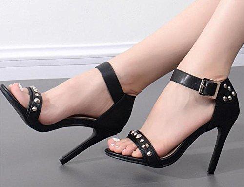 MEILI Damen Nieten mit Sandalen