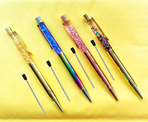 Pen Bling sets Pen Rhinestones Crystal Metal Ballpoint Pens Fine Black Ink Office Supplies(package of 4)