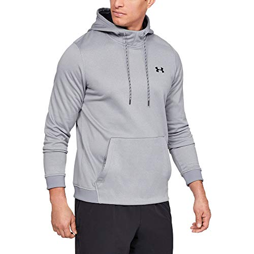 new product 52451 aba20 Under Armour Men s Armour Fleece Pullover Hoodie, Steel Light Heather (035)  Black
