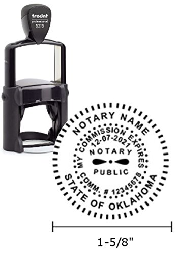 Trodat Professional Notary Stamp | Self Inking - 1.6 inch Diameter Prints | Oklahoma