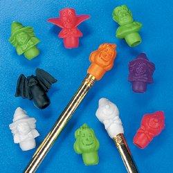 Fun Express Halloween Pencil Top Erasers Party Favors - 12 Dozen (Pencil Halloween Costume)