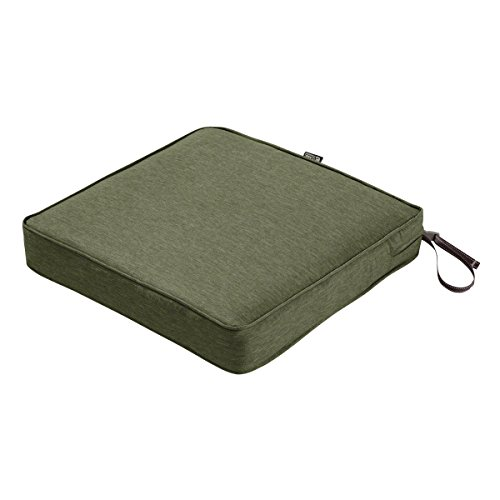Classic Accessories Montlake Seat Cushion Foam & Slip Cover, Heather Fern, 21x21x3
