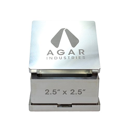 "Agar Industries Rosin Pre Press Mold for DIY Solventless Extraction & Pressing - 2.5"" x 2.5"""
