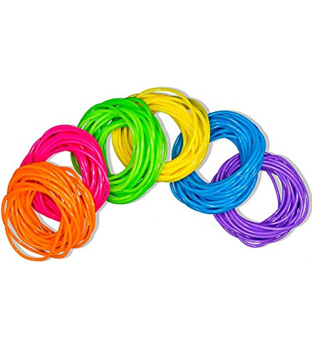 Ifavor123 Bulk Set of 288 Colorful Jelly Kids Bracelets Assorted Color Wristbands for Kids Birthday Party Favors Gift Prizes Toy Bracelet Accessories