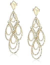 10k Yellow Gold Open Teardrop Dangle Earrings