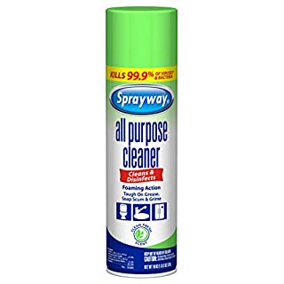 Sprayway SW5002R All Purpose Disinfectant Cleaner, Foaming Action, 19 Oz