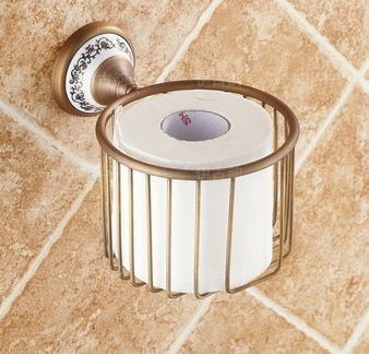 blyc- - Cesta para toalla antigua europea antiguo de cobre sala verde elefante papel toalla Puerta papel: Amazon.es: Hogar