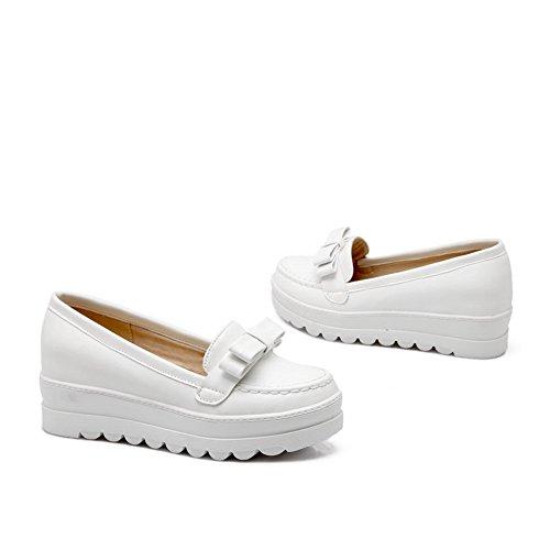 shoes Mesdames balamasa Round cuir Blanc Toe en antidérapante pumps supérieur fFqFdw8x