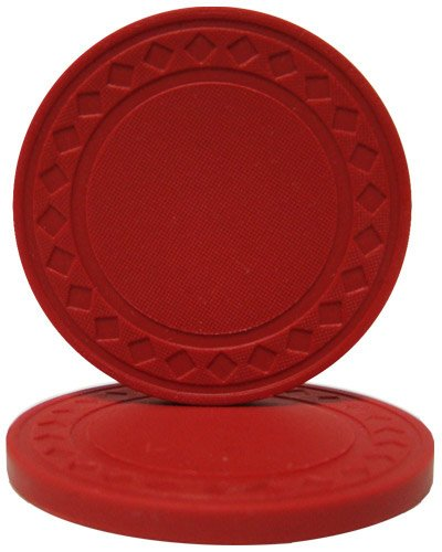 Chips Clay Composite Diamond Poker (Brybelly Diamond Ring Poker Chip 8.5-gram Clay Composite – Pack of 50 (Red))