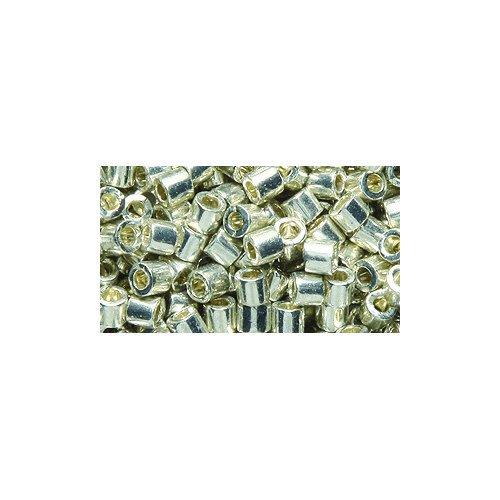 Miyuki Delica Seed Bead 8/0 DBL0035 , Metallic Silver Galvanized, (Silver Cylinder Bead)