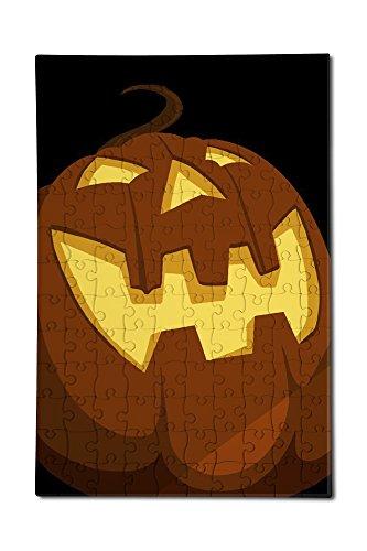 Halloween Jack o'Lantern - Vector (12x18 Premium Acrylic Puzzle, 130 (Halloween Jigsaw Puzzles To Print)