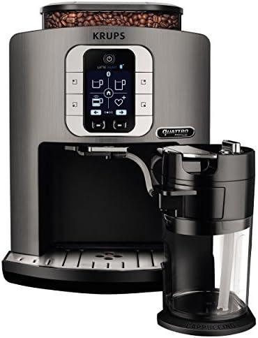 Krups EA860E Independiente Totalmente automática Máquina espresso 1.7L 1tazas Plata - Cafetera (Independiente, Máquina espresso, 1,7 L, Granos de café, Molinillo integrado, Plata): Amazon.es: Hogar