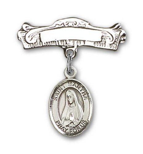 Icecarats Créatrice De Bijoux En Argent Sterling St. Martha Charme Broches Badge Arc 7/8 X 7/8