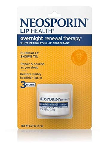 Neosporin Lip Health Overnight Renewal Therapy 0.27 oz (Pack of 3) by Neosporin