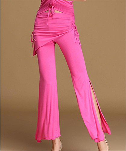 Pantalon Confortable pantalon Ventre Rose De Formation Yoga Fente Danse Peiwen pantalon daR4dw