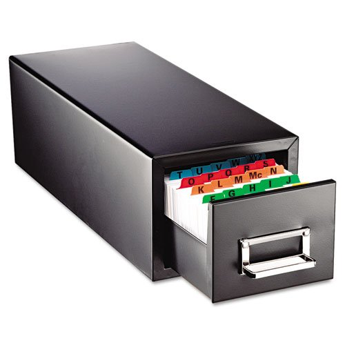 SteelMaster Drawer Card Cabinet Holds 1,500 3 x 5 cards, 7 3/4 x 18 1/8 x 7 by STEELMASTER