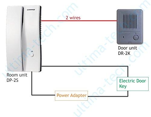 amazon com commax audio door phone and door unit kit dp 2s dr 2k rh amazon com Apartment Intercom Wiring-Diagram Aiphone Intercom Wiring-Diagram