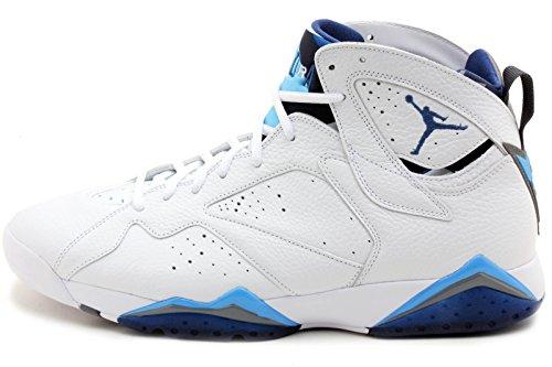 Nike Men's Air 7 Retro, WHITE/FRENCH BLUE-UNIVERSITY BLUE...